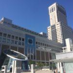晴れの日の札幌駅